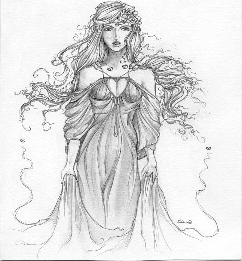 Aphrodite Greek Goddess Drawings